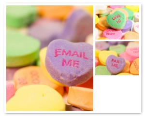 Conversation Heart Valentine Greeting Cards- Set of 3