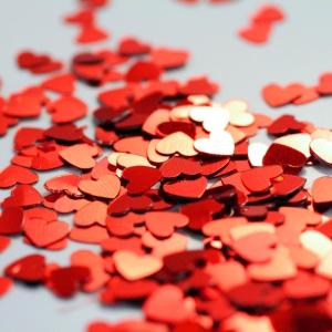 Lotsa Love- Valentine Confetti Heart Greeting Card