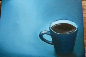 The Coffee Cup Blues 11x14 Original Oil Painting by creativeapples