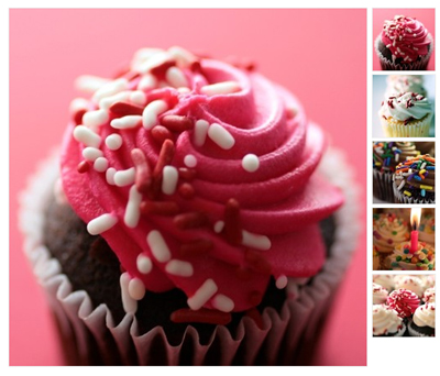 set of 5 cupcake greeting cards from creativeapples