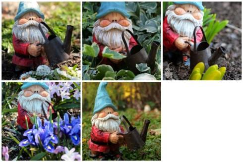 Garden Gnomes Handmade Greeting Cards- Set of 5