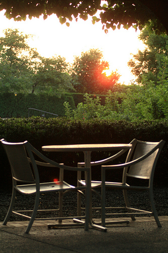 Sunset Table for Two- Photo Greeting Card