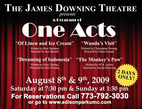 The James Downing Theatre Presents: A Program of One Acts