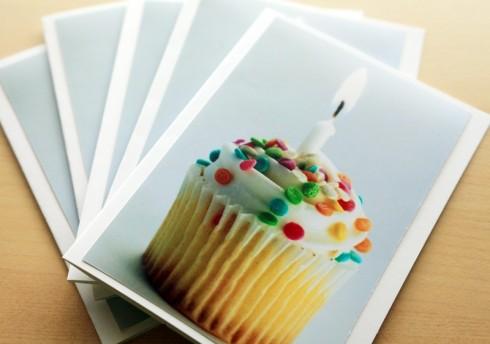 Cupcake Greeting Card or Invitation Set- Make a Wish