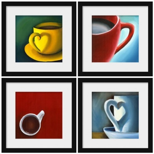 Coffee Love- Original Oil Painting Prints by Creativeapples