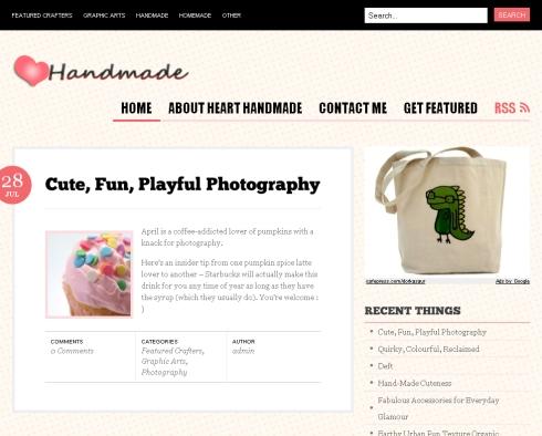 Creativeapples on the Heart Handmade Blog