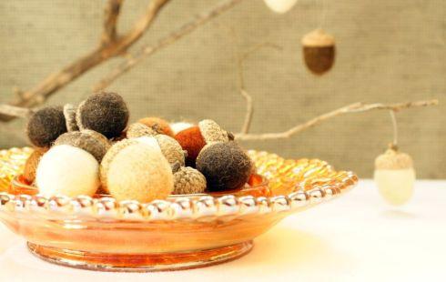Natural Craft: Felt Acorns