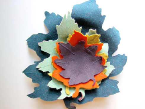 DIY project- fabric leaf bowl