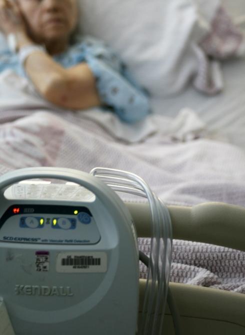 Grandma in the hospital