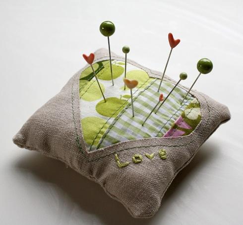 Sweetheart pin cushion tutorial