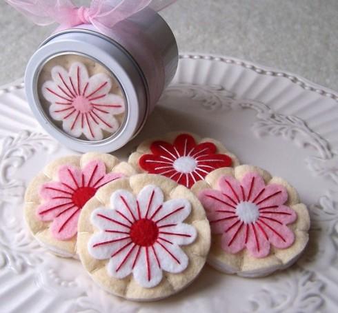 Gourmet Holiday Flower Iced Sugar Cookies