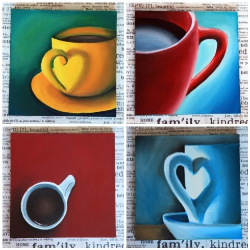 8x8 Original Oil Paintings from Creativeapples