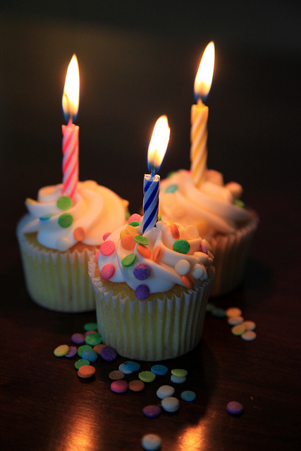 Happy Birthday Cupcake Trio Greeting Card