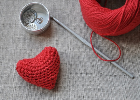 DIY- Crocheted Valentines Day Heart