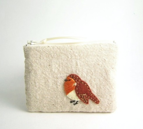 Little Robin Zipper Pouch