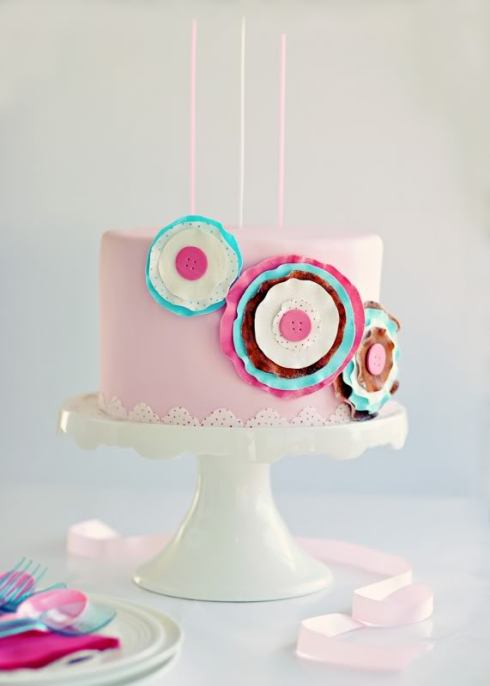 DIY- Paper-Craft Sugar Posy Cake